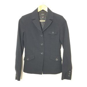 Jacob   Black Fitted Blazer Jacket Button-Front 0
